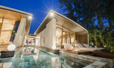 Iniala Beach House Villa Bianca Night View | Natai, Phang Nga