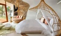 Iniala Beach House Villa Siam Bedroom and Balcony | Natai, Phang Nga