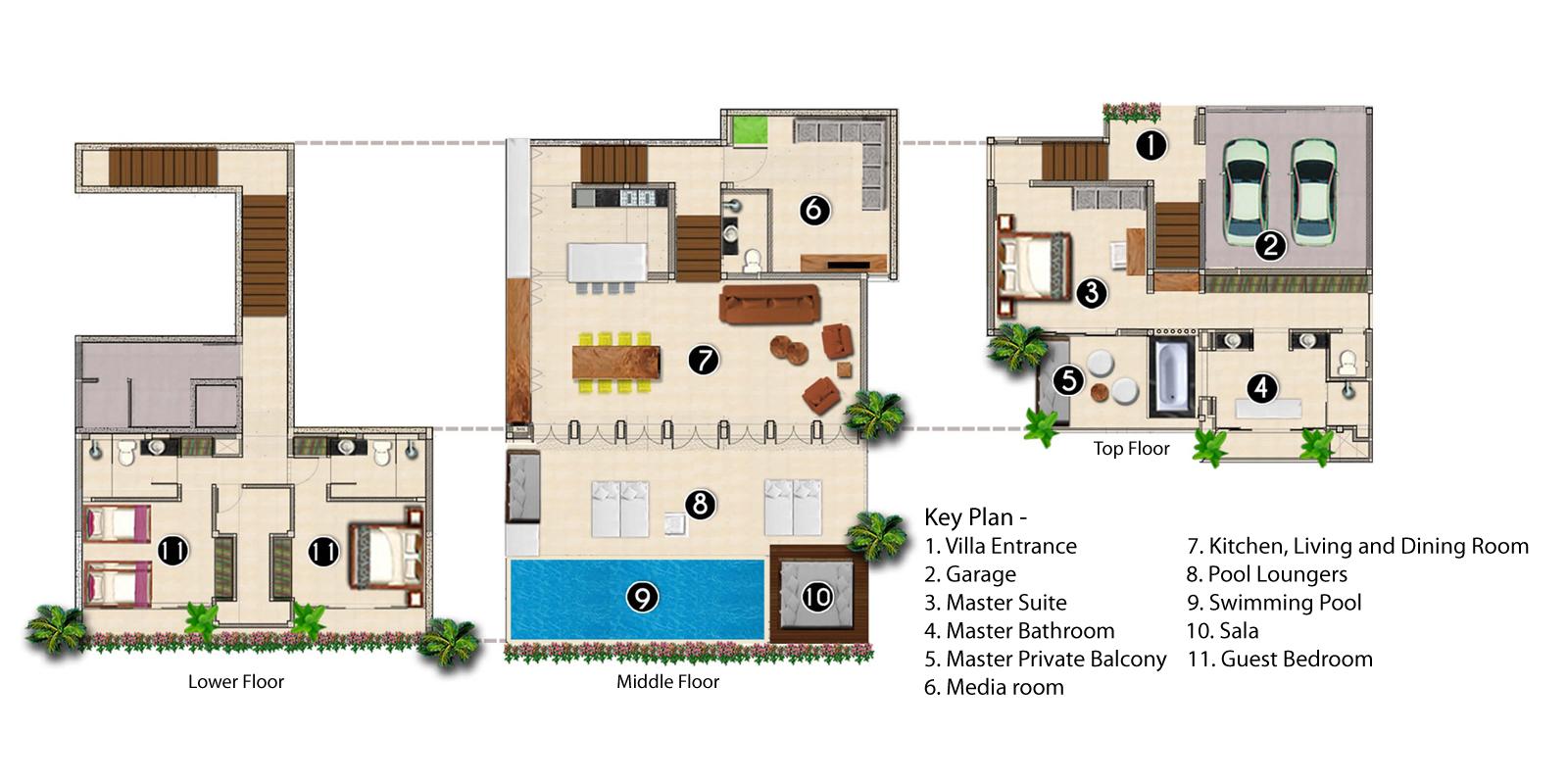 Villa Sammasan Floorplan | Surin, Phuket