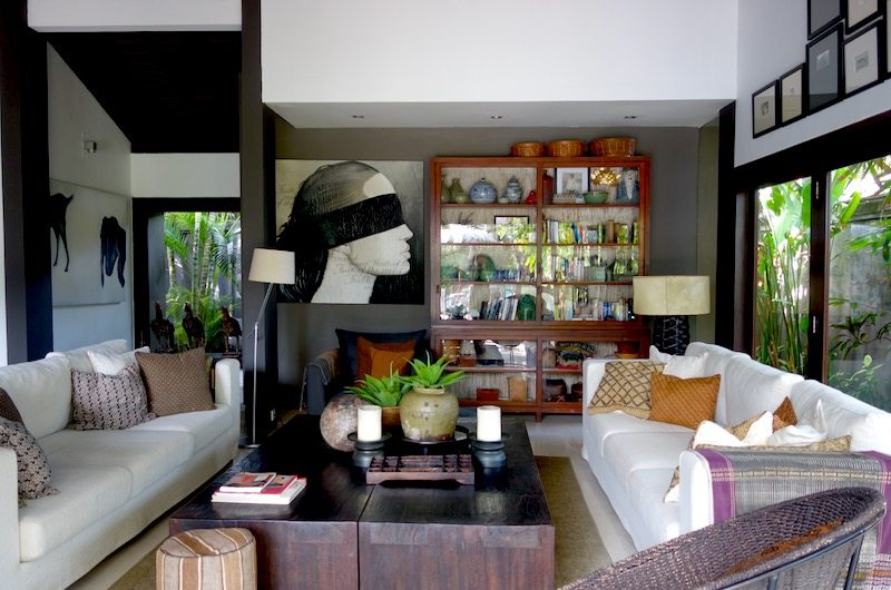 Living room of Chimera Villas in Seminyak, Bali