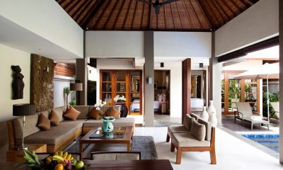 Akara Villas 1 Indoor Living Area with Pool View | Seminyak, Bali