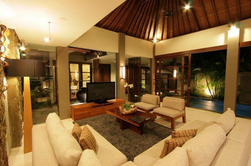 Akara Villas 1 Living Area with Pool View | Seminyak, Bali