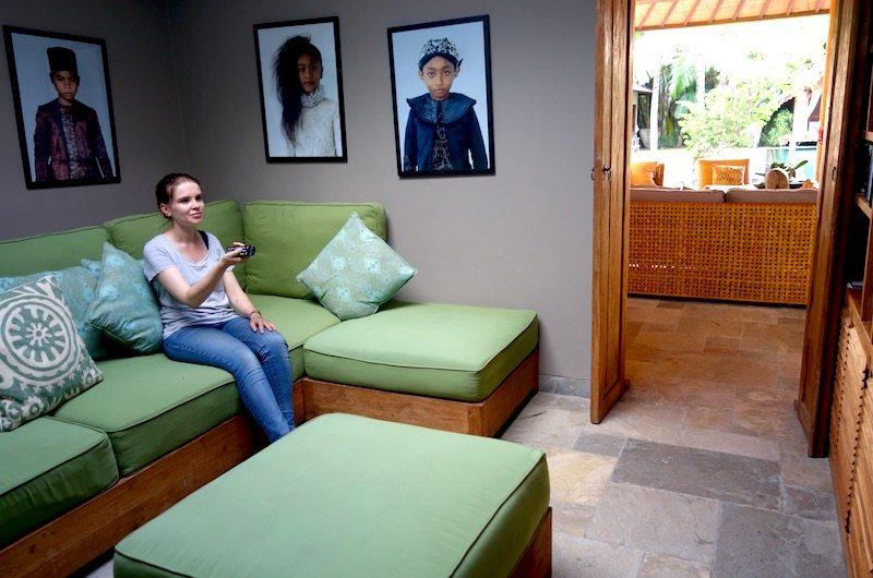 Media room of Villa Tiga Puluh in Seminyak, Bali, Indonesia