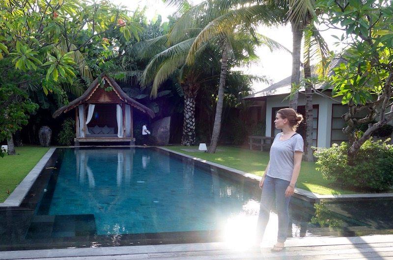 Swimming pool of Villa Tiga Puluh in Seminyak, Bali, Indonesia