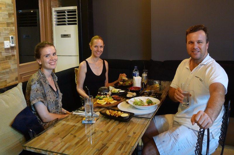 Dinner at Raffs close to Villa Tiga Puluh in Seminyak, Bali, Indonesia