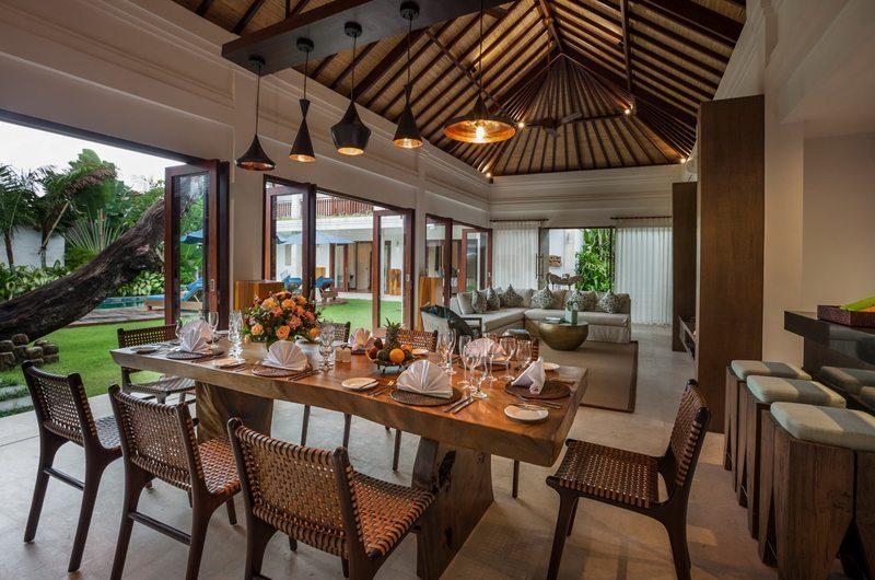 Villa Kajou Dining Area with Pool View   Seminyak, Bali
