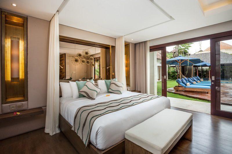 Villa Kajou Bedroom with Pool View   Seminyak, Bali
