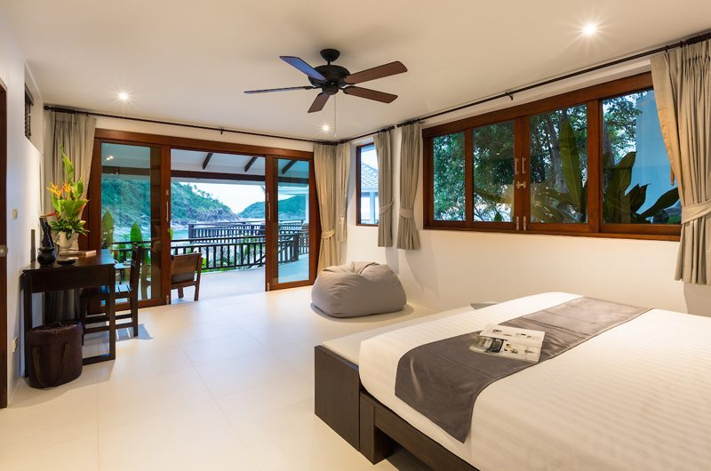 Secret Beach Villa Bedroom and Balcony | Koh Pha Ngan, Koh Samui