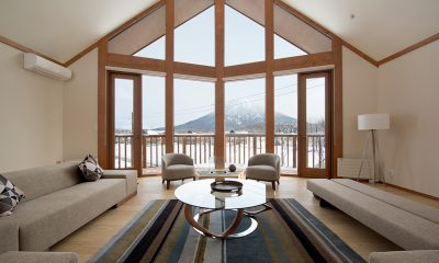 The Orchards Niseko Eagle's Nest Indoor Living Area | St Moritz, Niseko