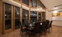 The Orchards Niseko Goyomatsu Dining Area at Night | St Moritz, Niseko