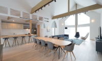 The Orchards Niseko Kitsune Living and Dining Area | St Moritz, Niseko