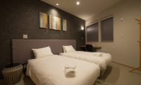The Orchards Niseko Kitsune Twin Bedroom with Study Table | St Moritz, Niseko