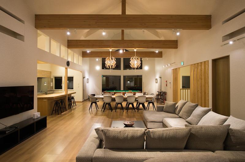 The Orchards Niseko Sawara Indoor Living and Dining Area | St Moritz, Niseko