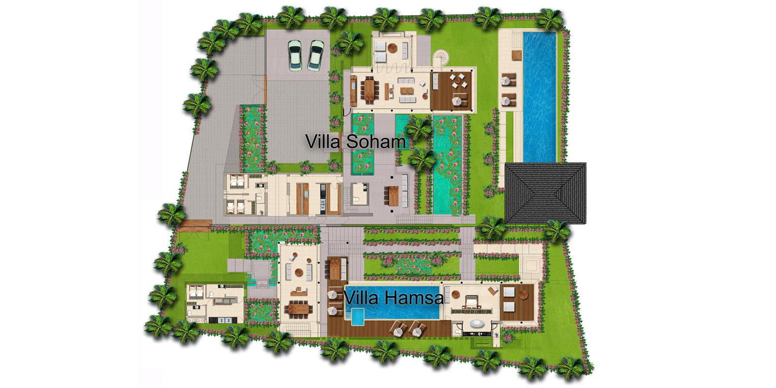 Sohamsa Ocean Estate Floorplan | Ungasan, Bali