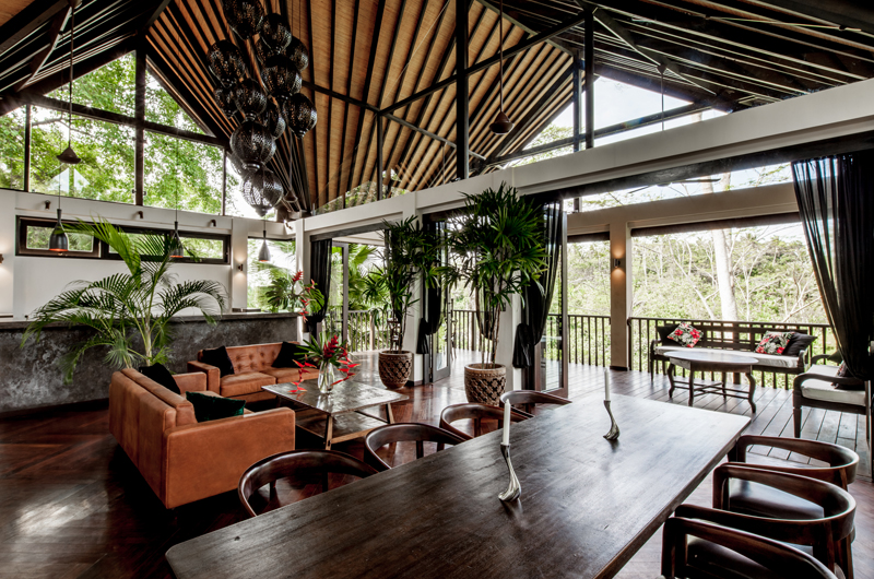 Villa Naga Putih Open Plan Living Room | Ubud, Bali