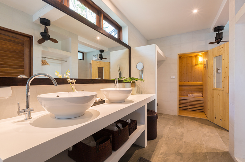 Secret Beach Villa Bathroom with Sauna | Koh Pha Ngan, Koh Samui