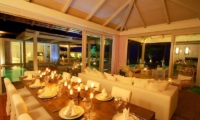 Villa Mia Samui Indoor Living and Dining Area with Pool View | Chaweng, Koh Samui