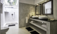 Satin Doll His and Hers Bathroom with Outdoor Shower | Galle, Sri Lanka
