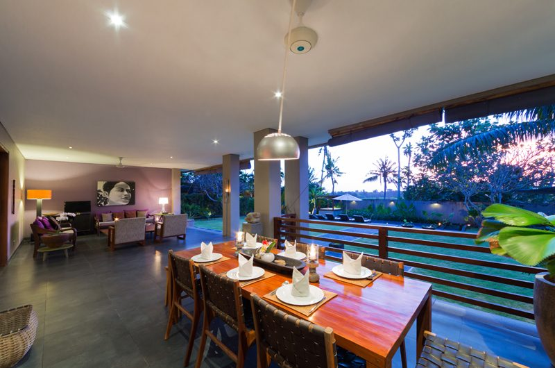 The Uma Villa Living and Dining Area with Pool View | Canggu, Bali