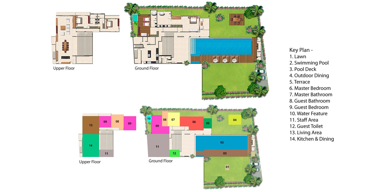 Villa Canggu South Floorplan | Canggu, Bali