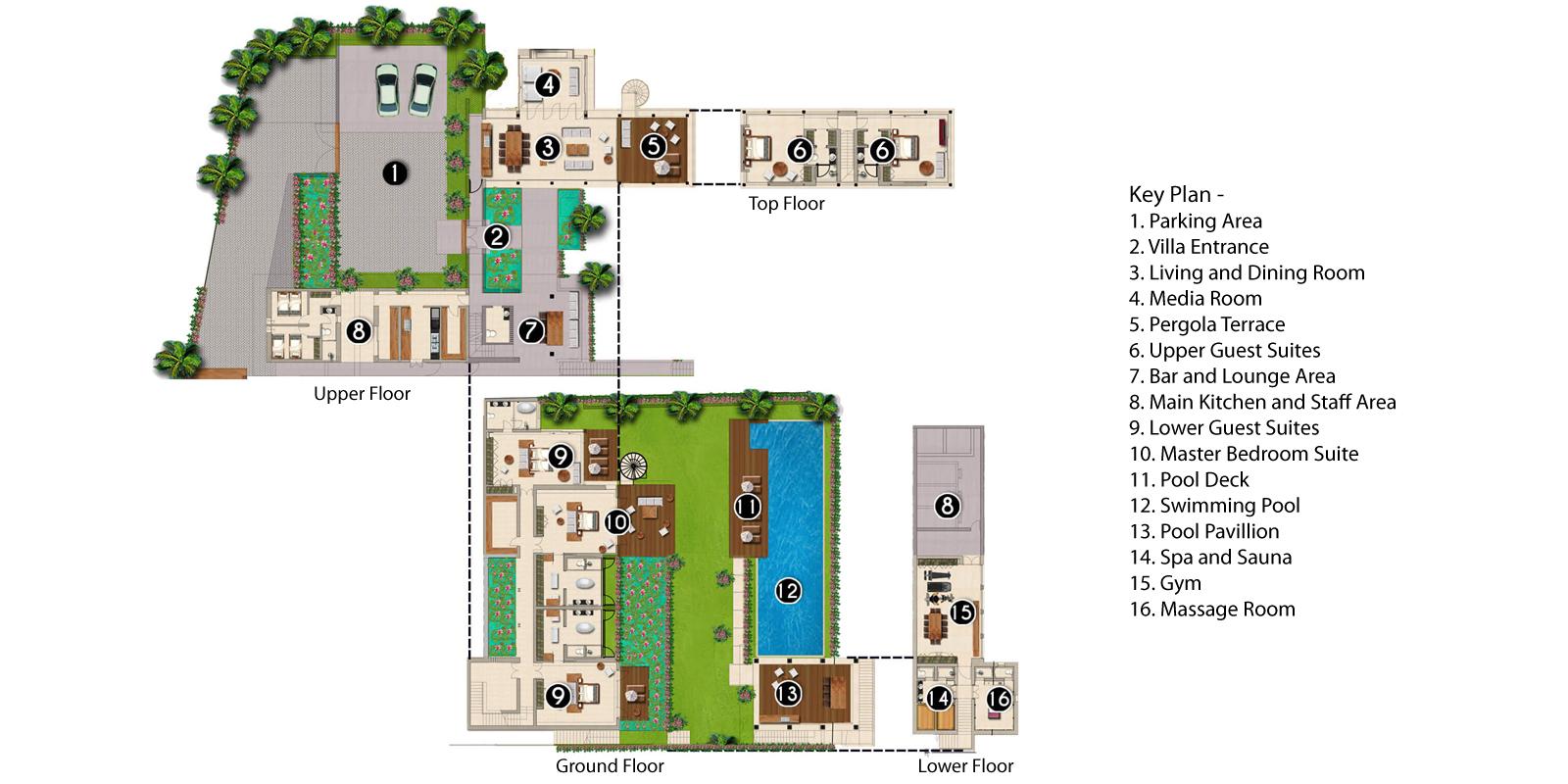 Villa Soham Floorplan | Ungasan, Bali