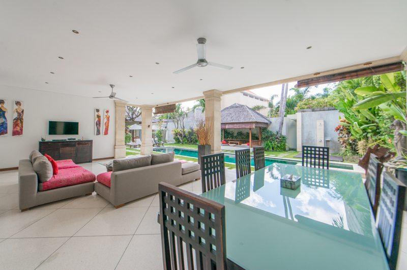 Villa Zanissa Villa Zack Indoor Living Area with Pool View | Seminyak, Bali
