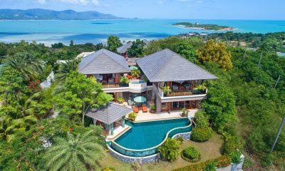 Villa Uno Bird's Eye View | Choeng Mon, Koh Samui