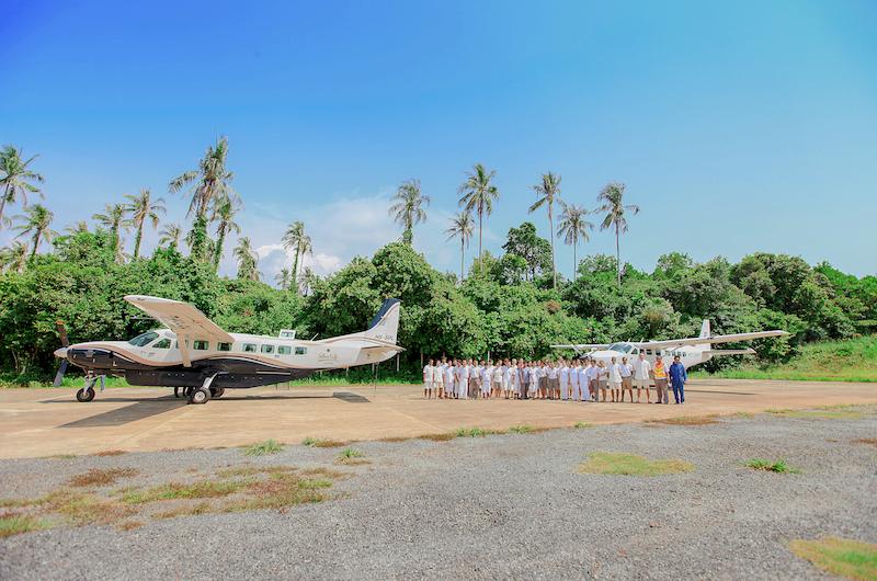 Thailand Soneva Kiri Plane