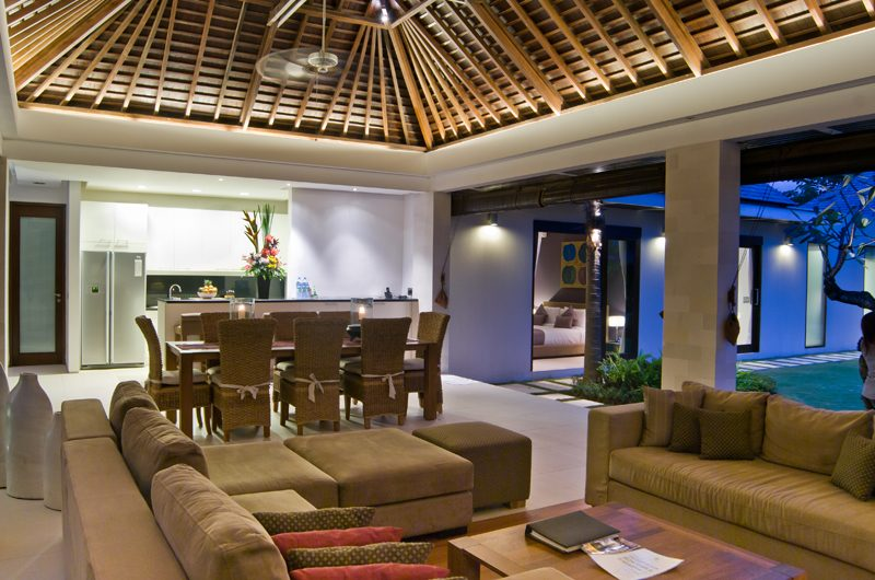Chandra Villas Chandra Villas 1 Indoor Living Area with Pool View | Seminyak, Bali