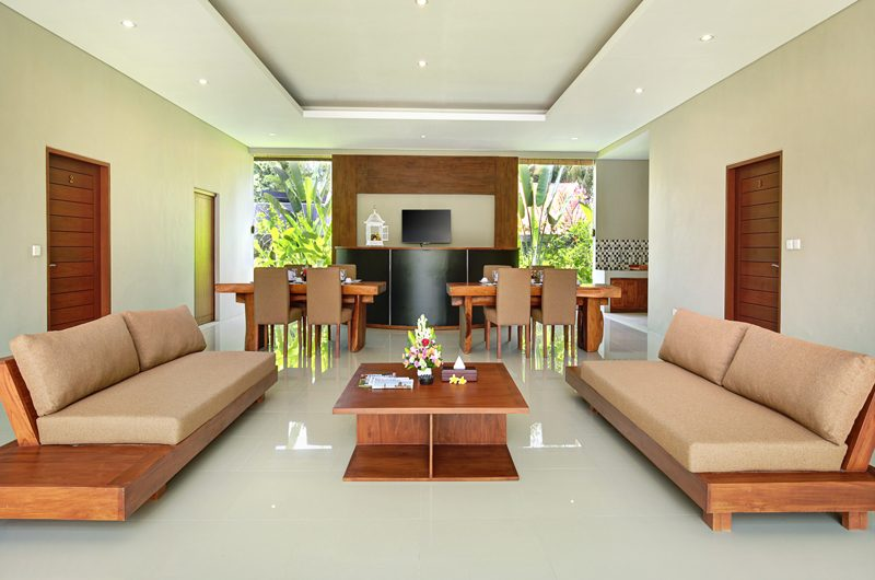 Sativa Villas Villa Cempaka Living and Dining Area | Ubud, Bali