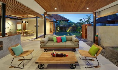 Sativa Villas Villa Orchid Open Plan Living Room | Ubud, Bali