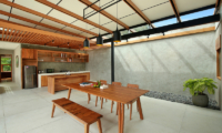 Sativa Villas Villa Orchid Kitchen and Dining Area | Ubud, Bali