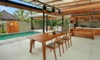 Sativa Villas Villa Orchid Pool Side Dining | Ubud, Bali