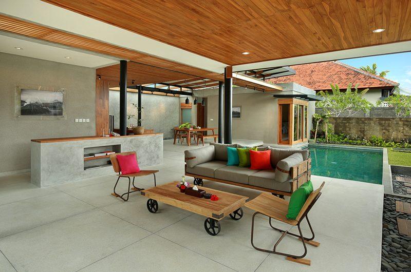 Sativa Villas Villa Orchid Indoor Living Area with Pool View | Ubud, Bali