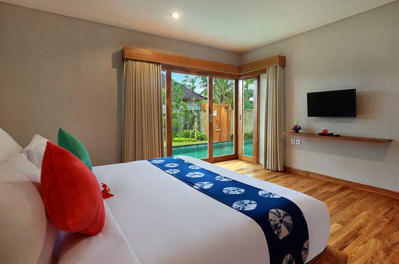 Sativa Villas Villa Orchid Bedroom with Pool View | Ubud, Bali