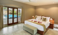 Sativa Villas Villa Rose Bedroom with Pool View | Ubud, Bali