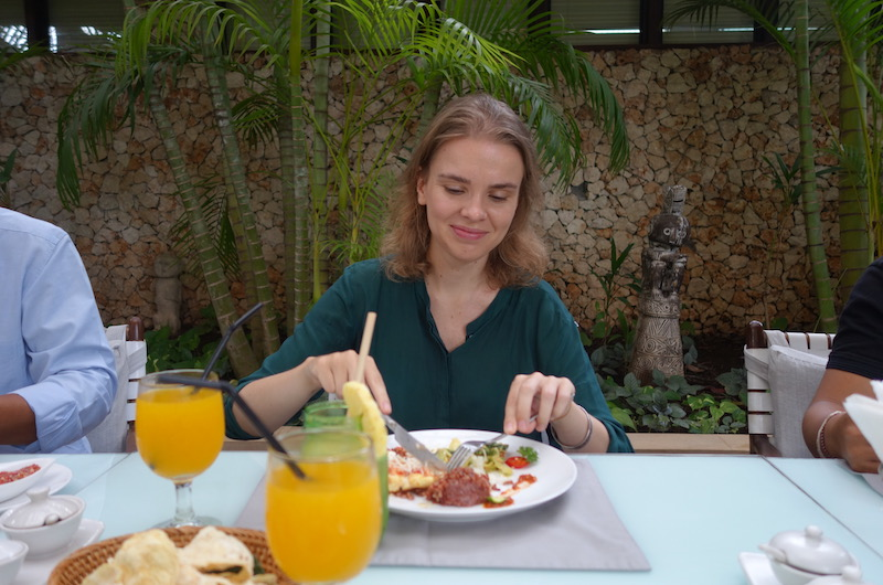 Bali Seminyak Villa Kubu Lunch