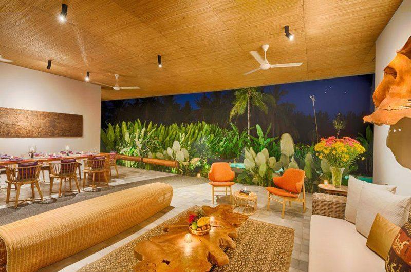 Villa Casabama Villa Casabama Panggung Living and Dining Area with Garden View | Gianyar, Bali