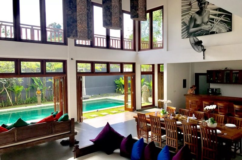 Villa Khaleesi Living Area with Pool View | Seminyak, Bali