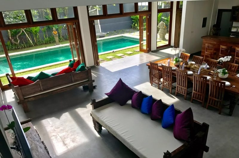 Villa Khaleesi Indoor Living Area with Pool View | Seminyak, Bali