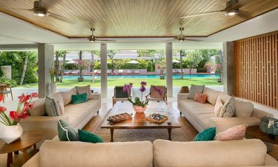 Villa Zambala Indoor Living Area with Pool View | Canggu, Bali