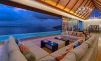 Villa Haleana Indoor Living Area with Sea View | Naithon, Phuket