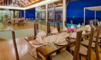 Villa Haleana Pool Side Dining | Naithon, Phuket