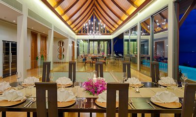 Villa Haleana Indoor Living and Dining Area | Naithon, Phuket