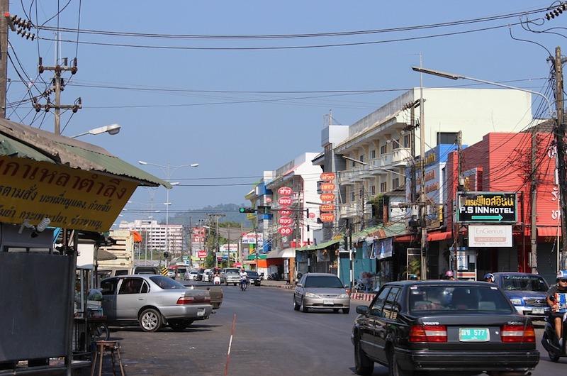 Thailand Phuket Street Traffic