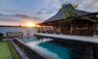 Villa Maya Pool with Sun Sets View   Sanur, Bali