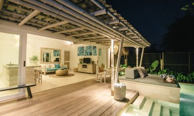 Villa Santai Nusa Lembongan Indoor Living Area with Pool View | Nusa Lembongan, Bali