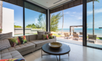 Villa Anar Living Area with Sea View | Bang Por, Koh Samui