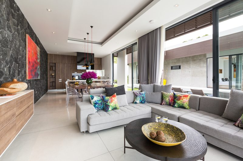 Villa Anar Indoor Living Area | Bang Por, Koh Samui