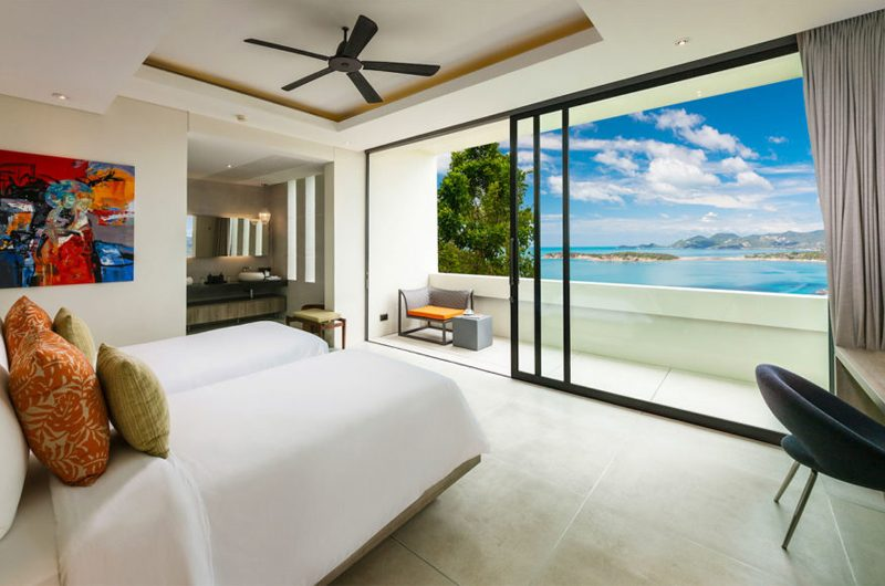 Villa Anavaya Twin Bedroom | Choeng Mon, Koh Samui